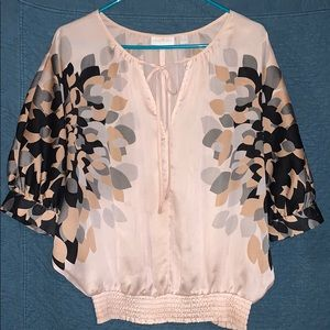 NY&Co blouse with tie top